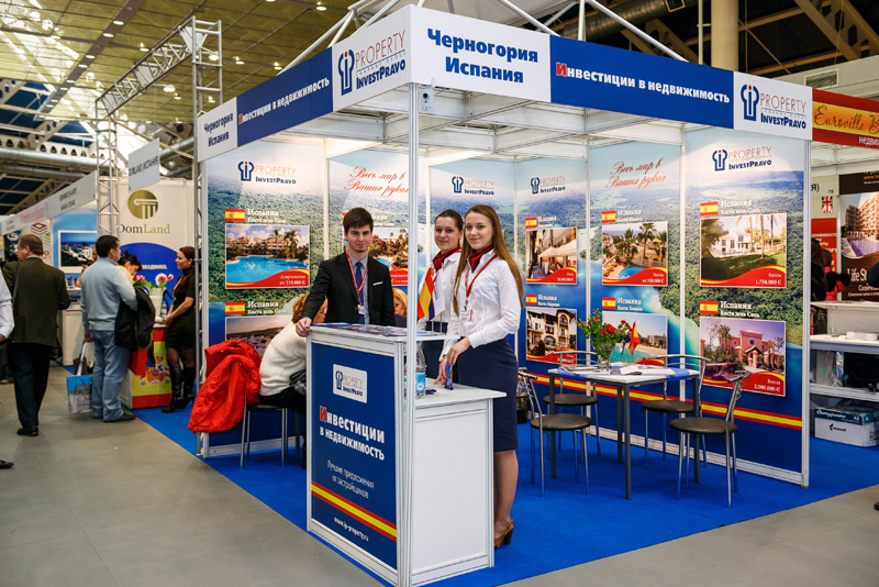 Moscow international property shows for Stand decoration